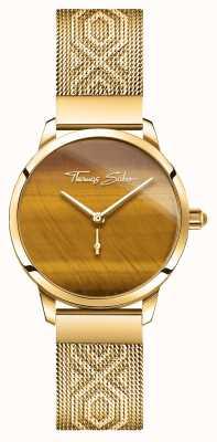Thomas Sabo | glamour e alma | espírito de jardim das mulheres | olho de tigre dourado WA0364-264-205-33