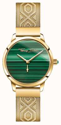 Thomas Sabo | glamour e alma | espírito de jardim das mulheres | ouro malaquita WA0365-264-211-33