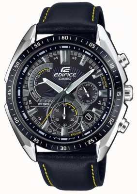 Casio | edifício | cronógrafo | pulseira de couro preto | mostrador preto EFR-570BL-1AVUEF
