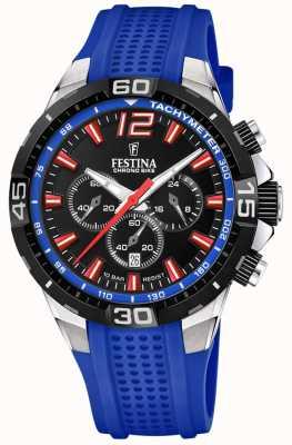 Festina Chrono bike 2020 black dial pulseira azul F20523/1