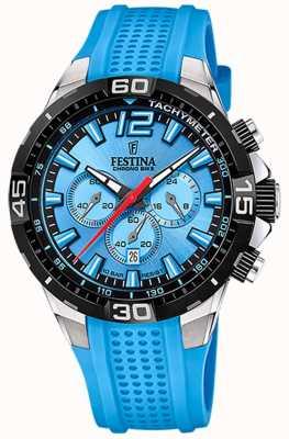 Festina Chrono bike 2020 blue dial pulseira azul F20523/8