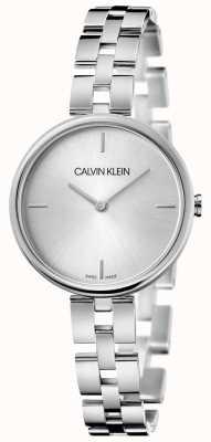 Calvin Klein Elegance | pulseira de aço inoxidável | mostrador prateado KBF23146
