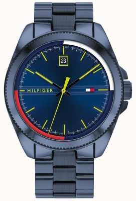 Tommy Hilfiger Riley pulseira de aço ip azul | mostrador azul 1791689
