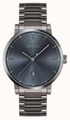 BOSS Confiança | pulseira de íon cinza | mostrador azul 1513793