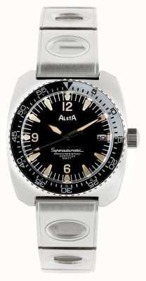 Alsta Nautoscaph, pulseira de metal superautomática de reedição de 1970 SUPERAUTOMATIC-BRACELET