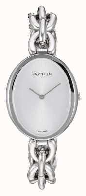 Calvin Klein | declaração de mulheres | pulseira de corrente em aço inoxidável | K9Y23126