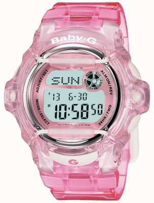Casio Display digital com cinta rosa bebê g BG-169R-4ER