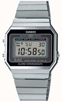 Casio Vintage | pulseira de prata | discagem digital | A700WE-1AEF