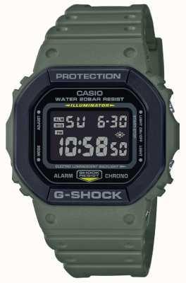 Casio G-shock pulseira de borracha verde | tela digital DW-5610SU-3ER
