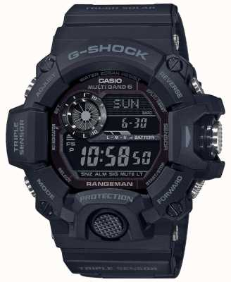 Casio Rangeman G-shock | blackout resistente por rádio solar controlado | GW-9400-1BER