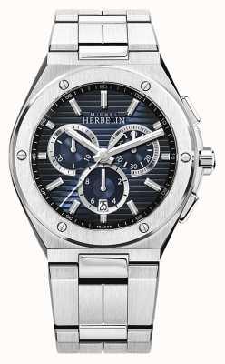 Michel Herbelin | camarat boné masculino | pulseira de aço inoxidável | mostrador azul 37645/B15