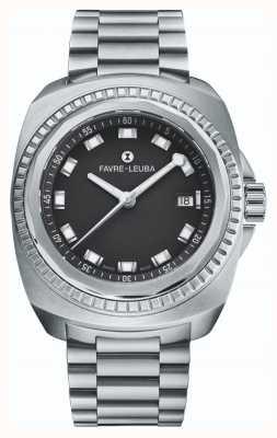 Favre Leuba Raider rei do mar | pulseira de aço inoxidável | mostrador preto | 00.10107.08.11.20