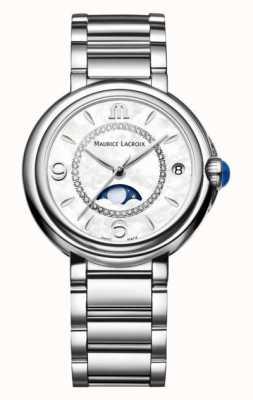 Maurice Lacroix Quartzo fiaba | mostrador branco | pulseira de prata FA1084-SS002-170-1