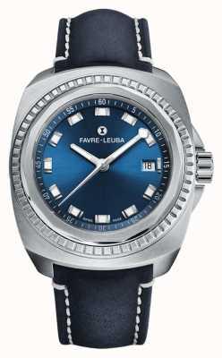 Favre Leuba Raider rei do mar | mostrador azul | couro antílope azul 00.10107.08.51.46