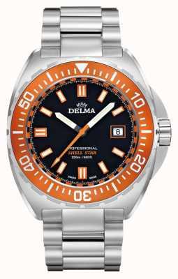 Delma Shell estrela de quartzo | pulseira de aço inoxidável | moldura laranja 41701.676.6.151