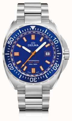 Delma Shell estrela de quartzo | mostrador em aço inoxidável | mostrador azul 41701.676.6.041