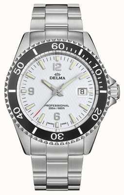 Delma Quartzo de Santiago | pulseira de aço inoxidável | mostrador branco 41701.562.6.014
