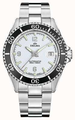 Delma Santiago automático | pulseira de aço inoxidável | mostrador branco 41701.560.6.014