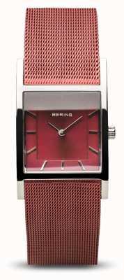 Bering Clássico das mulheres | prata polida | pulseira de malha azul 10426-303-S