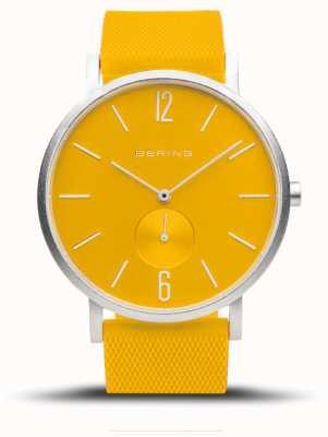 Bering Aurora verdadeira | pulseira de borracha amarela | mostrador amarelo 16940-609