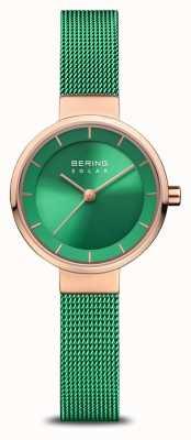 Bering Caridade das mulheres | rosa polida / escovada | cinta de malha verde 14627-CHARITY