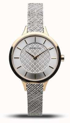 Bering Clássico das mulheres | ouro polido | pulseira de malha de prata 17831-010