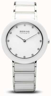 Bering Cerâmica feminina | pulseira de cerâmica branca | mostrador branco 11434-754