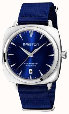 Briston Auto icônico do Clubmaster | cinta OTAN azul | mostrador azul 19640.PS.I.9.NNB