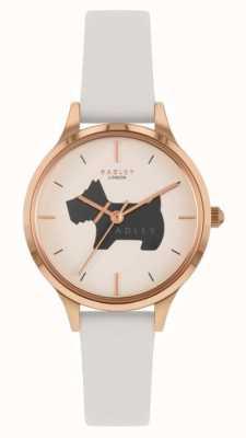 Radley Lugar Meridan | pulseira de couro creme | mostrador com motivo de cachorro RY2976