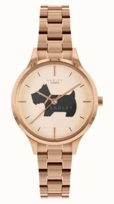 Radley Lugar Meridan | pulseira de aço inoxidável em ouro rosa | RY4530