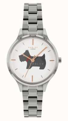 Radley Lugar Meridan | pulseira de aço inoxidável | mostrador com motivo de cachorro RY4519