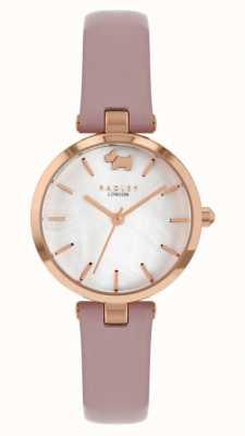 Radley Vista oeste | pulseira de couro rosa | mostrador prateado RY2970