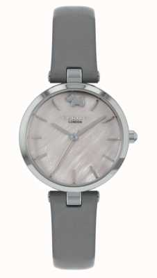 Radley Vista oeste | pulseira de couro cinza | mostrador prateado RY2969