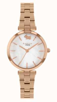 Radley Vista oeste | pulseira de aço ouro rosa | mostrador branco RY4510