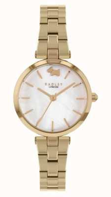 Radley Vista oeste | pulseira de aço dourado | mostrador branco RY4512