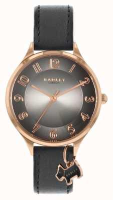 Radley Estrada saxônica | pulseira de couro cinza | mostrador cinza RY2966