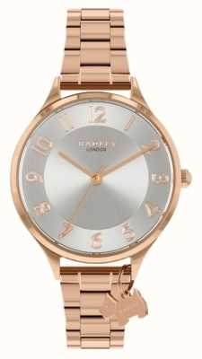 Radley Estrada saxônica | pulseira de aço ouro rosa | mostrador prateado RY4506