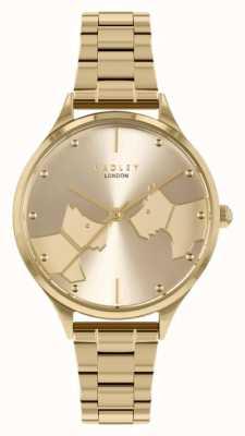 Radley Cara a cara | pulseira de aço dourado | mostrador de ouro RY4516