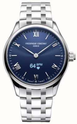 Frederique Constant Homens | vitalidade | smartwatch | mostrador azul | aço inoxidável FC-287N5B6B