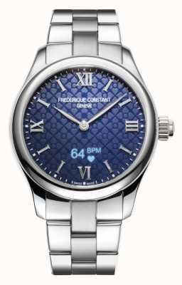 Frederique Constant Mulheres | vitalidade | smartwatch | mostrador azul | aço inoxidável FC-286N3B6B