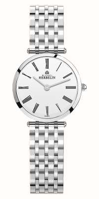 Michel Herbelin | mulheres | epsilon | pulseira de aço inoxidável | mostrador branco | 17116/B01N