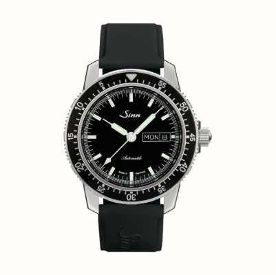 Sinn 104 st sa i classic pilot watch pulseira de borracha preta 104.010 BLACK RUBBER