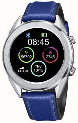 Lotus Homens | smartime | pulseira de couro azul + pulseira grátis 50008/2