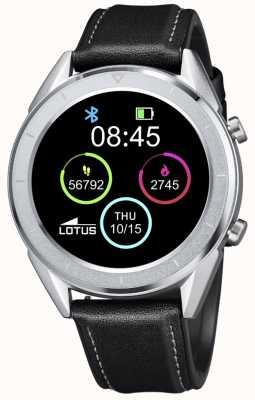 Lotus Homens | smartime | pulseira de couro preto + pulseira grátis 50008/3