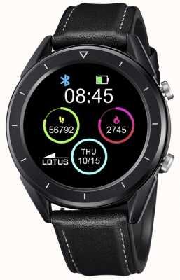 Lotus Smartime | homens | pulseira de couro preta + pulseira grátis L50009/1