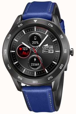 Lotus Homens | smartime | pulseira de couro azul + pulseira grátis 50012/2