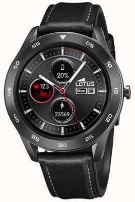 Lotus Smartime | homens | pulseira de couro preta + pulseira grátis L50012/3