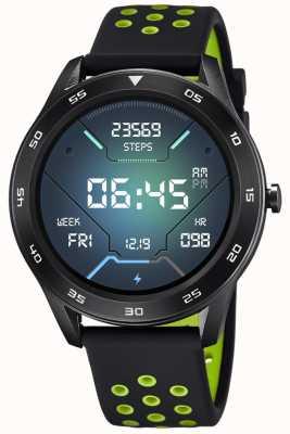 Lotus Homens | smartime | pulseira de silicone preto + pulseira grátis 50013/1