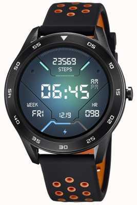 Lotus Homens | smartime | pulseira de silicone preto + pulseira grátis 50013/2