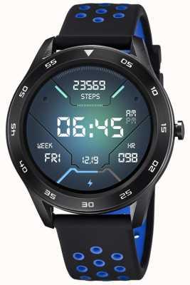Lotus Homens | smartime | pulseira de silicone preto + pulseira grátis 50013/3